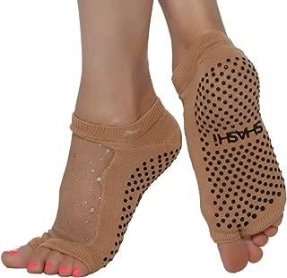 Shashi Glitter Mesh Non Slip Open Toe Ergonomic Sock Pilates Barre Ballet Yoga
