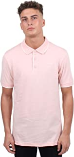 Gio Goi Contrast Polo Shirt Mens Pink Activewear Athleisure Top Tee X-Small