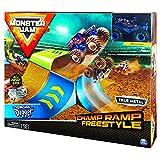 Monster Jam 6053296 - Original Monster Jam Champ Ramp Freestyle Spielset, Maßstab 1:64