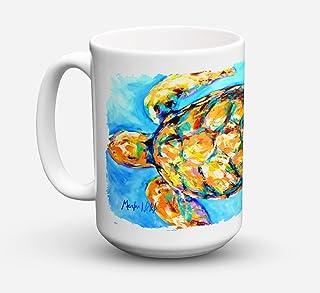 Caroline's Treasures MW1150CM15 Sand Dance Turtle Dishwasher Safe Microwavable Ceramic Coffee Mug 15 ounce, 15 ounce, mult...