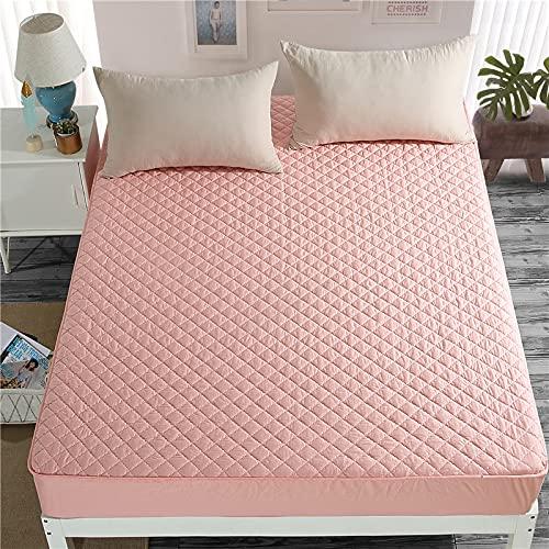NTtie Protector de colchón Acolchado - Microfibra - Transpirable Colcha Antideslizante de algodón Puro de una Pieza