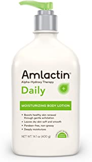 AmLactin Daily Moisturizing Body Lotion , 14.1 Ounce Bottle with Pump, Paraben Free