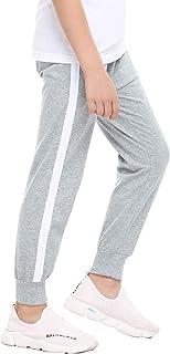Irevial Pantalones niños de 100% algodón, Pantalones de Chándal para Niños de Cintura elástica con cordón,Pantalón Largo D...