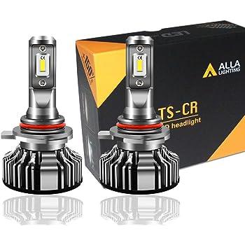Alla Lighting 10000lm 9012 LED Headlight Bulbs Extremely Super Bright TS-CR LED HIR2 9012 Headlights Conversion Kits 9012 Bulbs, 6000K Xenon White