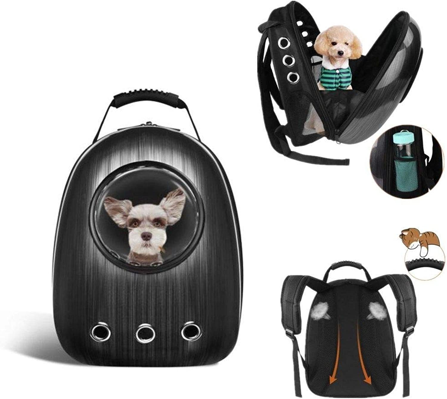 FidgetFidget Waterproof Pet Dog Cat Backpack Carrier Astronaut Capsule Breathable Bag Handbag