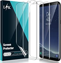 [3 Pack] L K Screen Protector for Samsung Galaxy S8 Plus, [Self Healing] [Full Coverage] HD Effect Flexible Film, Lifetime Replacement Warranty