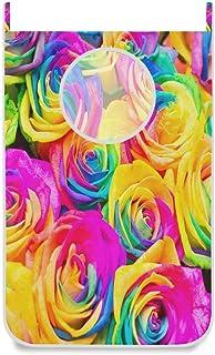 Panier à linge suspendu sac à linge coloré fleur rose aquarelle porte / mur / placard suspendu grand sac à linge panier po...
