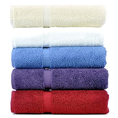 Luxury Hotel & Spa Towel 100% Genuine Turkish Cotton (Bath Towel - Set of 4, Variety Pack)
