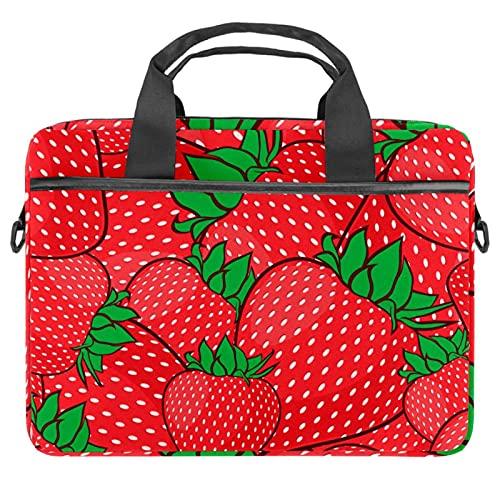 Strawberry Red 13.4-14.5 pulgadas Portátil Maletín de Lona Portátil Portátil Bandolera Bandolera