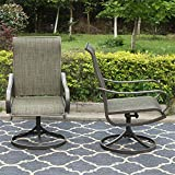 Sophia & William Patio Swivel Chair Set of 2 Metal Rocker Chair Outdoor Dining Furniture for Lawn Garden Backyard Sling Mesh Weather Resistant