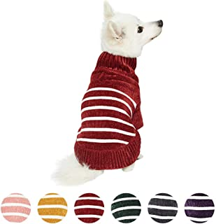 Blueberry Pet 2020 New 10+ Designs Fall & Winter Dog Coats - Multicolored Puffer Jacket, Chenille Sweater and Faux Fur Dog Scarf