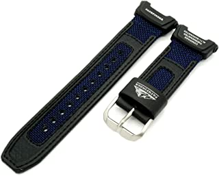 10365735 Nylon Fabric Watch Band f/ PRO TREK PAG-240 PAG240B-2, Blue/Black