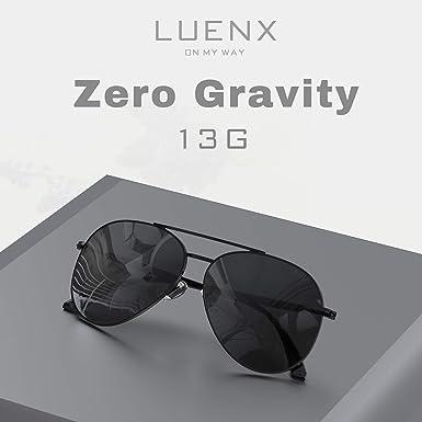 Aviator Sunglasses Mens Women Polarized Black Lens Black Metal Frame Dark 60mm with Case - UV400