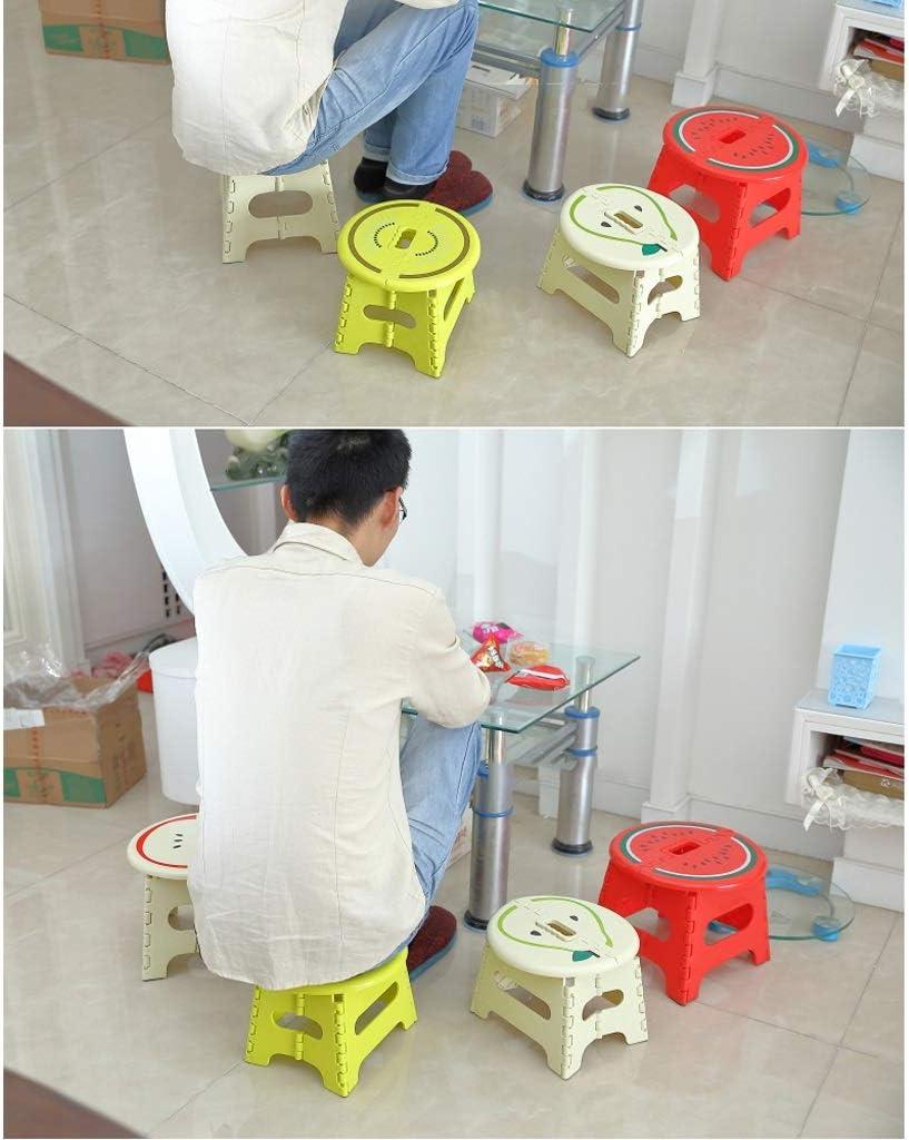 Chaise Artiste Tabourets Pliante Tabouret Pliant en Plastique épais Pliante Portable de Camping HUYP (Color : Green) Green