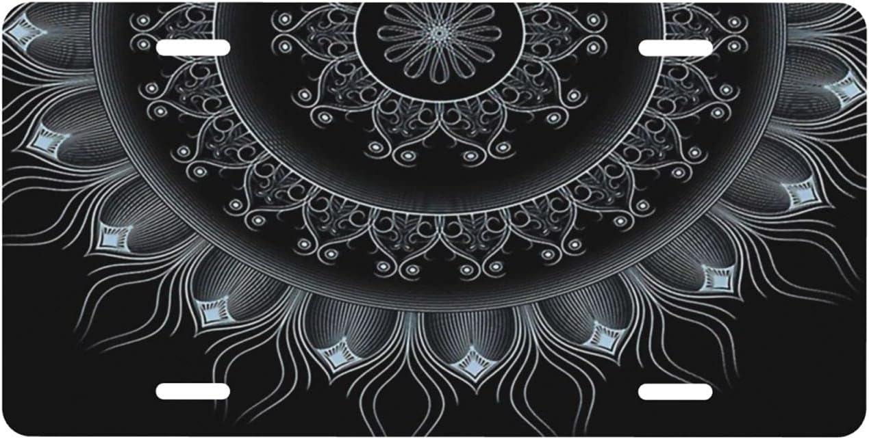 NCHOME License Plate Mandala Mystic Pattern Dallas Mall Indian Max 74% OFF