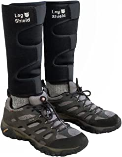 Neoprene Leg Gaiters - Unique Hook and Loop Fastener Design for Easy On/Off - For Outdoors, Hiking, Hunting, Biking, and General Shin/Calf/Skin Protection - Windproof, Water Resistant, Snug Fit (Pair)