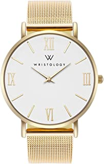 WRISTOLOGY Stella - 3 Options - Womens Roman Numerals Gold Watch
