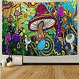 Tapiz de seta de calavera colorida de dibujos animados tapiz de arte de calavera mágica sala de estar decoración del hogar tela de fondo A12 100x150cm