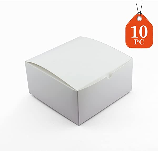 Tytroy 10 Pack 8 X 8 X 4 Inches Kraft Boxes Cardboard Gift Box With Lids For Wedding Birthday Holiday Baby Shower Favor