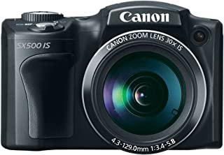 Canon PowerShot SX500 IS 16.0 MP Digital Camera with 30x Wide-Angle Optical Image Stabilized Zoom and 3.0-Inch LCD (Black)...