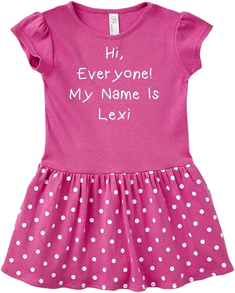 Personalized Name Toddler//Kids Sweatshirt My Name is Lexi Mashed Clothing Hi Everyone