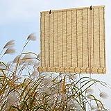 WYCD Estores de Bambú Natural, Persianas de Bambú, Estor Enrollable de Bambú, Persianas de Caña,...