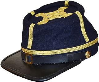 US Civil War Confederate Full Leather Peak General's Kepi