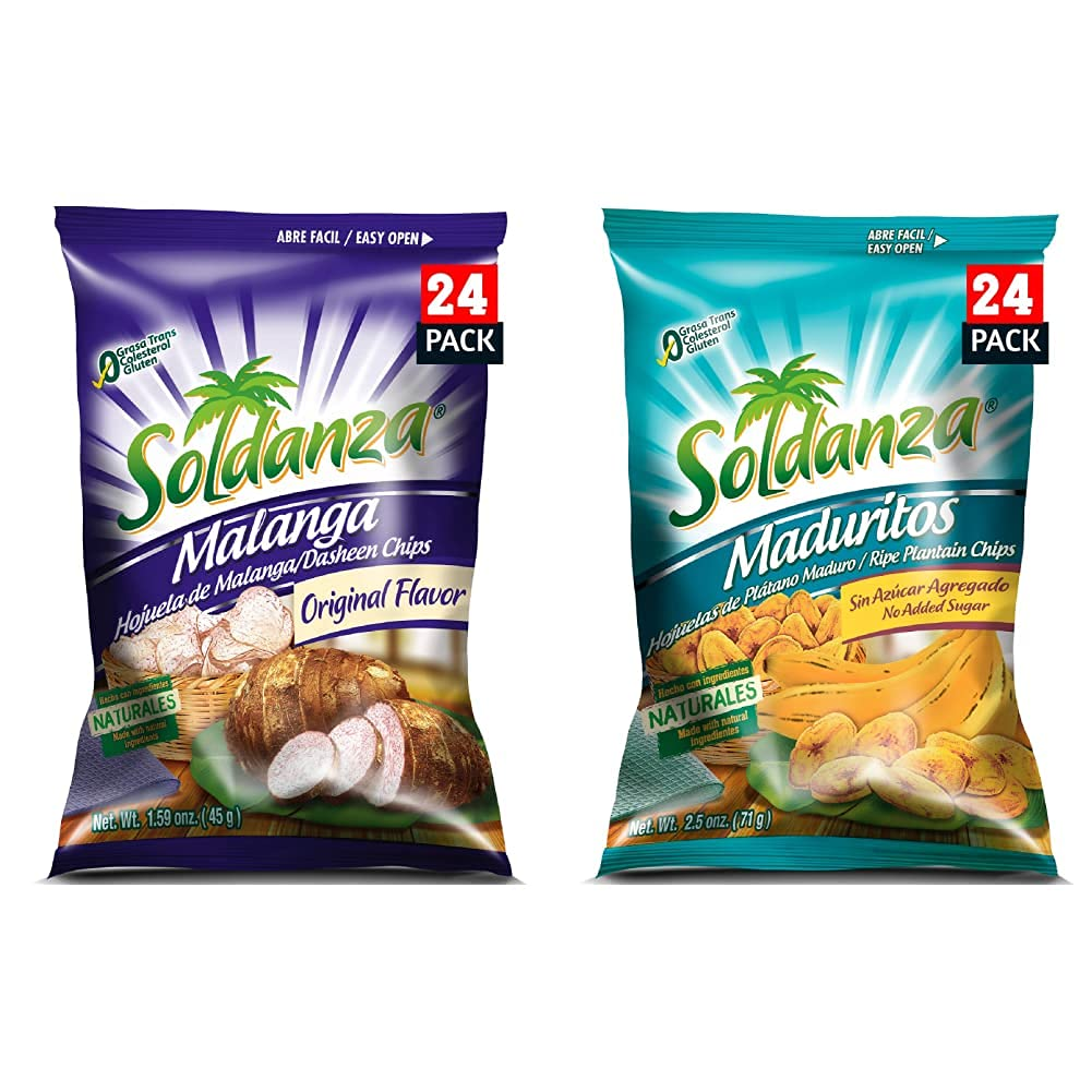 Soldanza Dasheen Chips 1.6 Ounce 24 Plan 1 year warranty and Wholesale of Pack