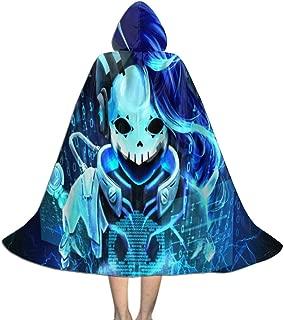 Sombra Overwatch Kid Halloween Cloak Cape with Hood Cosplay Costumes Robe