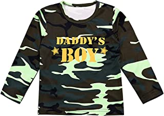 itkidboy Baby Boy Girl Camouflage Long Sleeve T-Shirt Daddy's Boy Daddy's Girl Print Tops