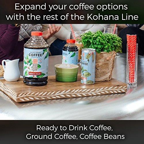 Kohana Cold Brew Coffee, Gourmet Ready To Drink Can, Tahitian Vanilla, 8 Ounce, Best Flavored Coffee On The Go, Pack of 12 (packaging may vary)