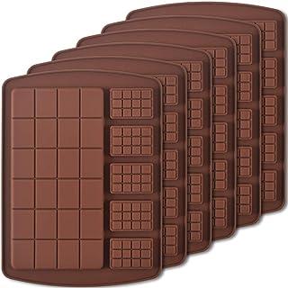 Newk Lot de 6 moules en silicone pour chocolats, bonbons et barres énergétiques