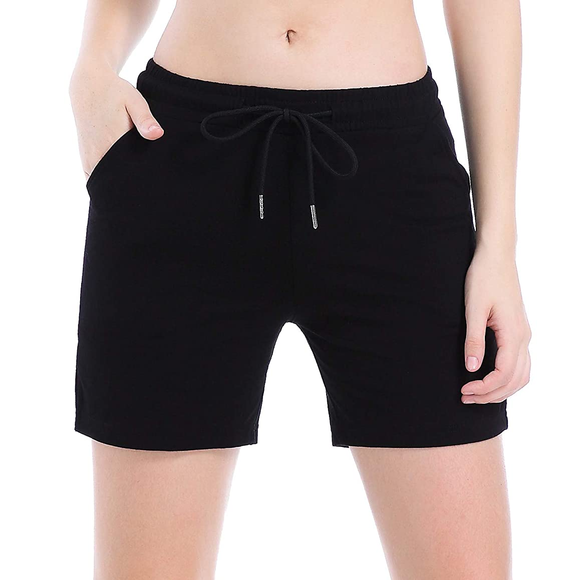 Ferrieswheel Story Women Lounge Active Sport Shorts Light Short Yoga Pants with Pockets Workout