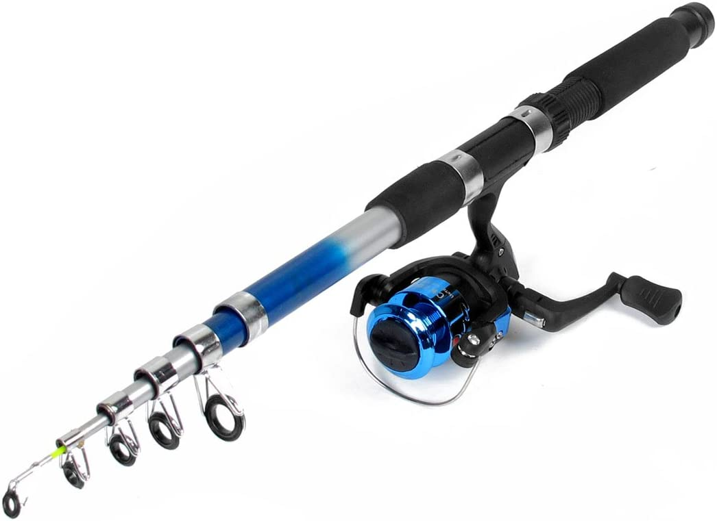 Sourcing Max 57% OFF Map 6 Sections Telescopic Fishing Free Shipping Cheap Bargain Gift Rod Pole Black Blue -