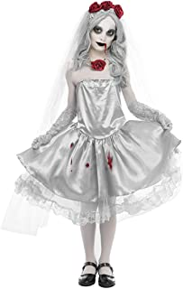 Ghost Bride Costume Women Halloween Cosplay Zombie Vampire Ghost Dress Fancy Party Princess Halloween Outfit