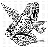 Paper Parachute Cling Rubber Stamps 2.75x2 -Winged Frog