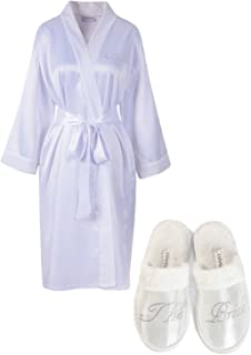 Best bride dressing gown and slippers Reviews