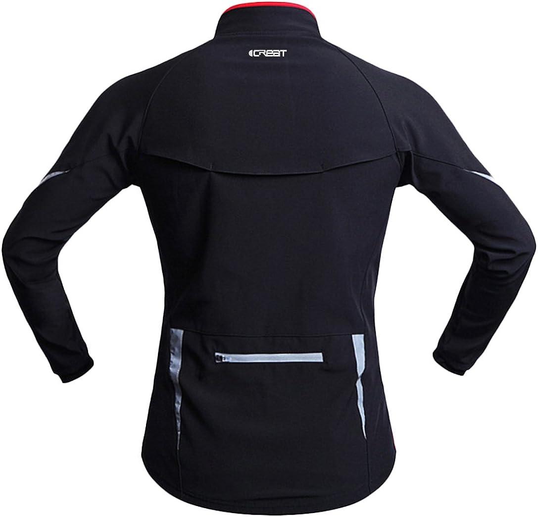 iCREAT Veste coupe-vent imperm/éable pour homme Veste polaire r/éfl/échissante Tailles S /à XXL Pour lautomne