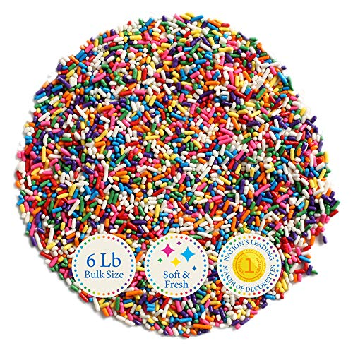 6 Lb Bulk Sprinkles, Colorful, Sweet & Convenient Carnival Blend Decorettes by KerrySelect