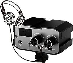 Comica CVM-AX1 DSLR Mixer, 3.5mm Mono Stereo Dual-Channel Audio Mixer for DSLR Camera Camcorder Smartphone, Full Aluminum Housing