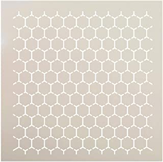 Reverse Honeycomb Stencil by StudioR12 | Country Repeating Pattern Art - Reusable Mylar Template | Painting, Chalk, Mixed ...