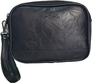 Pierre Cardin 6011 - Bolso de Mano para Hombre con Correa de Mano, Talla única, Color Negro