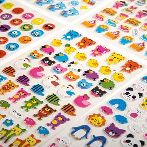 VAPIAO Sticker Aufkleber 800 Stück Smileys, Tiere, Fahrzeuge, Autos für Kinder, Babys, Karten, Laptop, Bücher, Joypads zum Tauschen und Sammeln