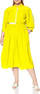 French Connection womens AIDEN DRAPE CONTRAST SHRT DRSS Casual Dress