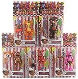 agzhu 5 Unids / Set FNAF Five Nights At Freddy'S Freddy Bonnie Foxy Fazbear Bear 19Cm PVC Figuras de...