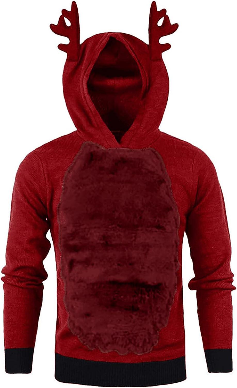 Men's Autumn Sweatshirt Christmas Plush Long Sleeve Tops Bodybuilding Hip Hop Sweater For Men
