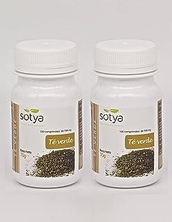 Sotya Té Verde 200 comprimidos (dos botes de 100 C/U) 500 Mg,  potente antioxidante, poder depurativo y desintoxicante, bu...