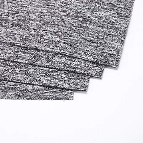 20PCS Square Carpet Floor Tiles,20x20 inch Washable DIY Size Heavy Duty Floor Carpet Tiles for Indoor Outdoor Residential & Commercial (Light Gray)