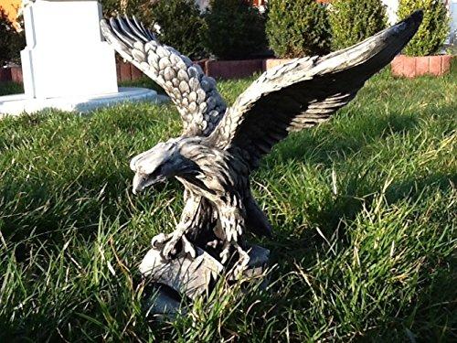 SSITG Jardín Figura águila Figura Estatua de piedra Altura 33cm de piedra Pájaros de hormigón