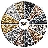 Home Profis HPDS-100 Dekosteine – 25kg natürlicher Marmorkies, Bianco Carrara, aus Italien zur Dekoration von Haus, Garten, Teich und Aquarium